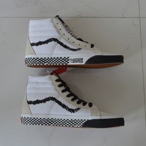 VANS SK8-HI DIY BLACK WHITE SNEAKER SHOES CANVAS S